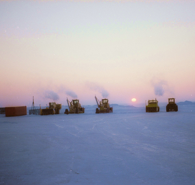 snow removal equipment at the Colville River Delta site