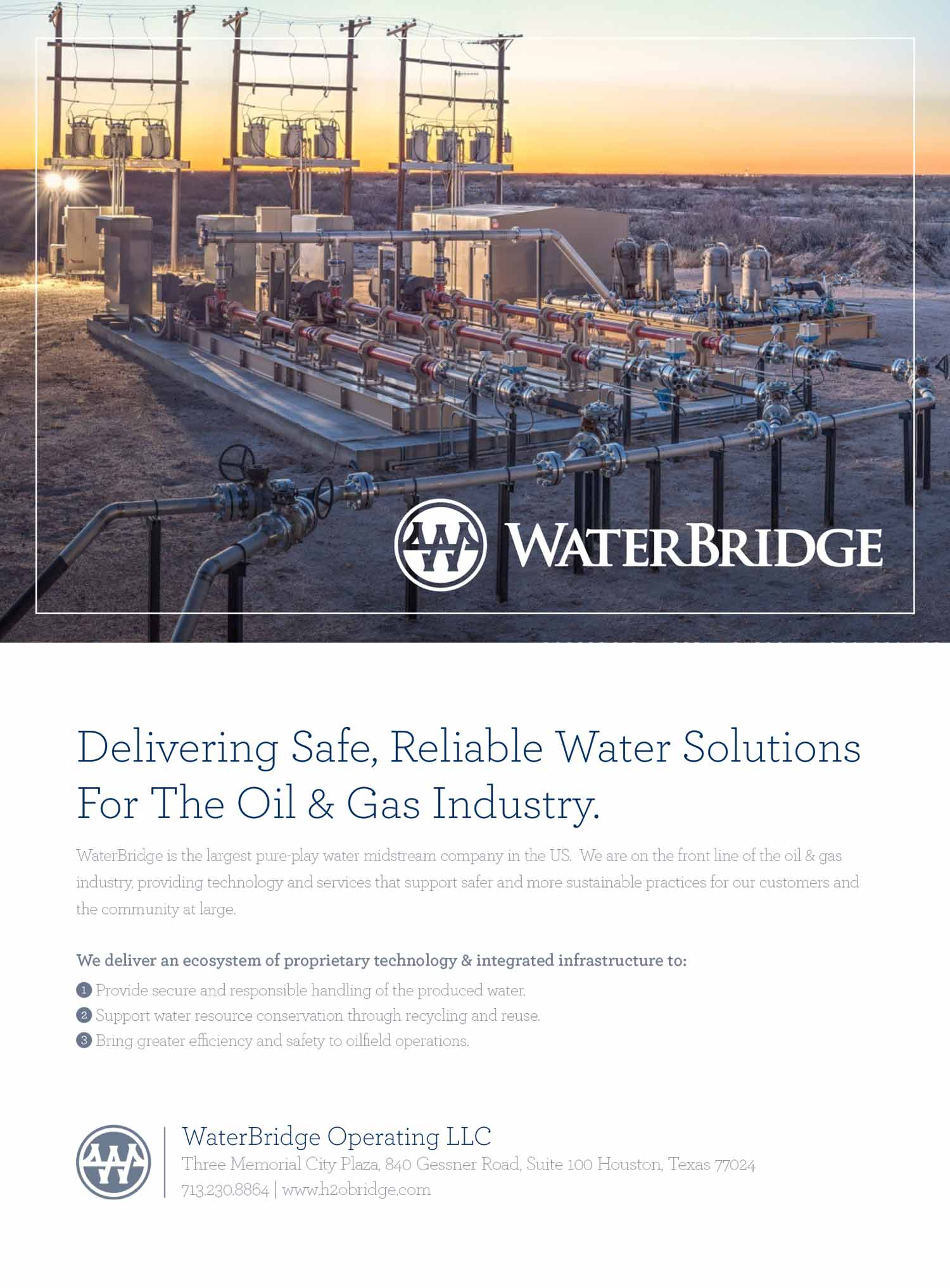 WaterBridge Operating LLC Advertisement